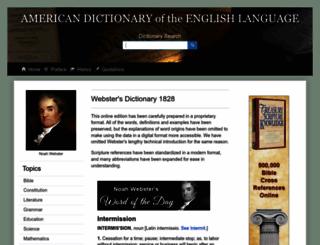 webstersdictionary1828.com screenshot