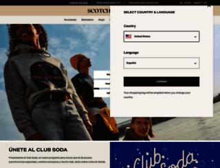 webstore-es.scotch-soda.com screenshot