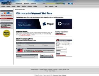 webstore.maplesoft.com screenshot