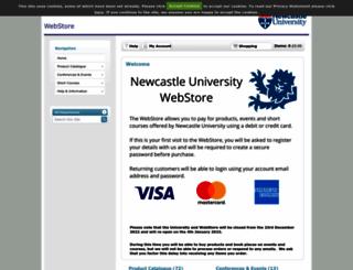 webstore.ncl.ac.uk screenshot