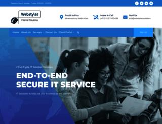 webstyles.co.za screenshot