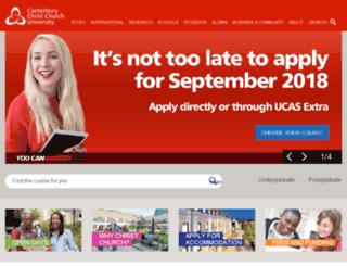 websystems.canterbury.ac.uk screenshot