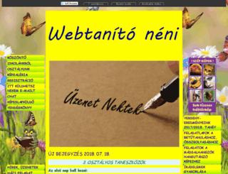 webtanitoneni.lapunk.hu screenshot