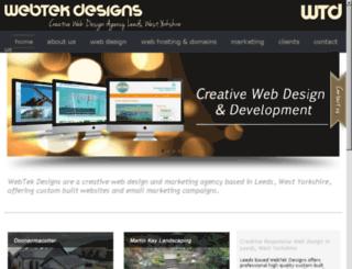 webtekdesign.co.uk screenshot