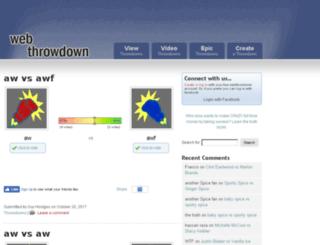 webthrowdown.com screenshot