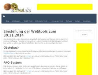webtools.ekiwi.de screenshot