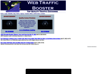 webtrafficbooster.com screenshot