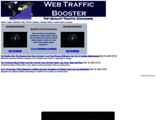 webtrafficbooster.com screenshot