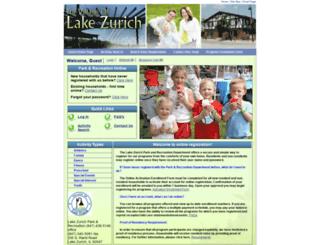 webtrak.lakezurich.org screenshot