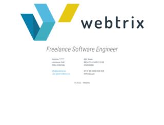 webtrix.be screenshot