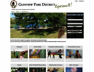 webtrrac.glenviewparks.org screenshot