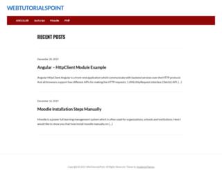 webtutorialspoint.com screenshot
