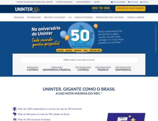 webtv.grupouninter.com.br screenshot