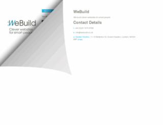 webuild.co.uk screenshot