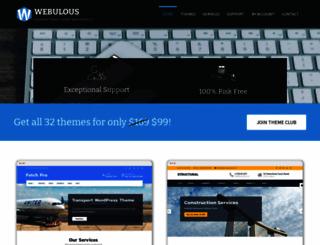 webulousthemes.com screenshot