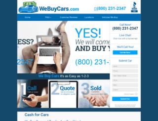 webuycars.com screenshot