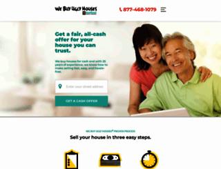 webuyuglyhouses.com screenshot