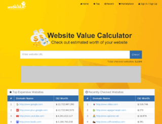 webvalue.info screenshot