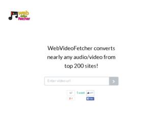 webvideofetcher.com screenshot