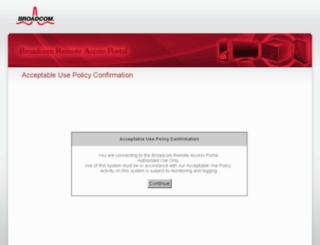webvpn.broadcom.com screenshot
