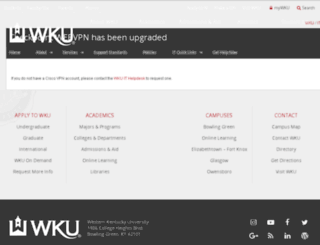 webvpn.wku.edu screenshot
