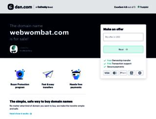 webwombat.com screenshot