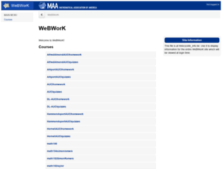 webwork.alfred.edu screenshot