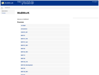 webwork.collegeofidaho.edu screenshot
