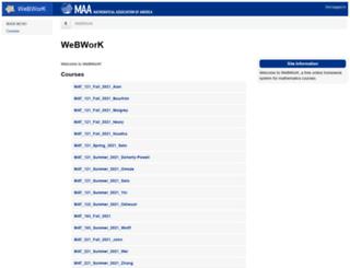 webwork.syr.edu screenshot