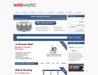 webworld.ie screenshot