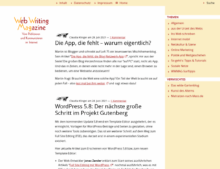 webwriting-magazin.de screenshot