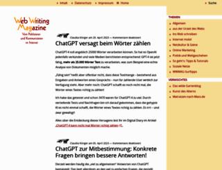 webwriting-magazin.de screenshot