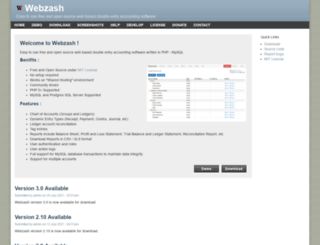 webzash.org screenshot