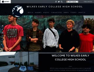 wechs.wilkescountyschools.org screenshot