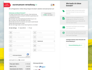 wechselstube.euromuenzen-verwaltung.de screenshot