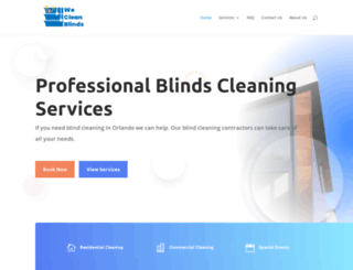 wecleanblinds.com screenshot