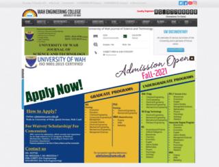 wecuw.edu.pk screenshot