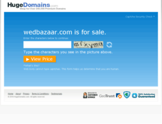 wedbazaar.com screenshot