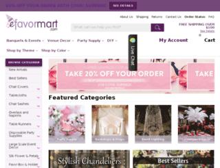 wedding-supplies.efavormart.com screenshot