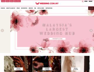 wedding.com.my screenshot