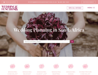 weddingandfunction.co.za screenshot