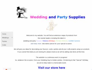 weddingandpartysupplies.co.uk screenshot