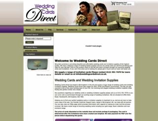 weddingcardsdirect.co.uk screenshot