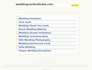 weddingcardsofindia.com screenshot