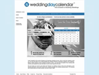weddingdaycalendar.com screenshot