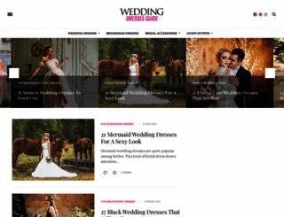 weddingdressesguide.com screenshot