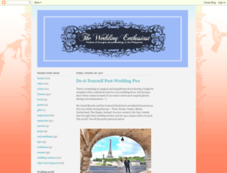 weddingenthusiast.blogspot.com screenshot