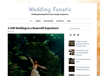 weddingfanatic.com screenshot