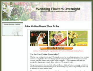 weddingflowersovernight.com screenshot