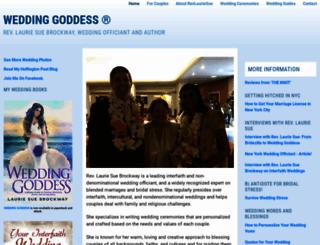 weddinggoddess.com screenshot